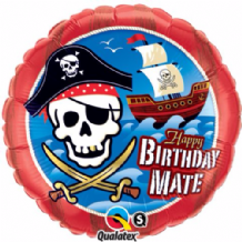 "Birthday Mate Pirate Foil Balloon (18"") 1pc"